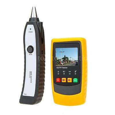 Handheld Network Cable Testing Monitor CCTV Tester with Wire Tracker Receiver
