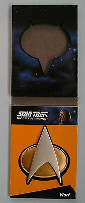 Star Trek TNG Complete Series 1 Communicator Badge Card CP7 Lt. Wolf