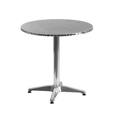 27.5'' Round Aluminum Indoor-Outdoor Table With Base