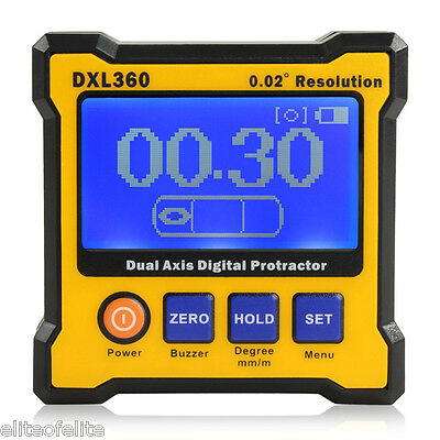 Angle Finder Cube Digital Magnetic Protractor Gauge Inclinometer Level Box US