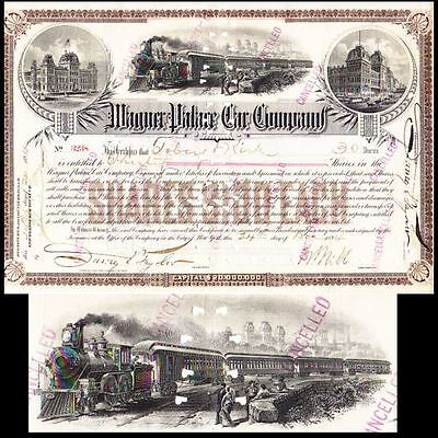 Wagner Place Car Company 1894 Stock Certificate