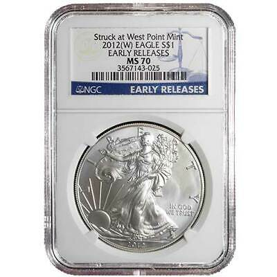2012 W $1 American Silver Eagle NGC MS70 Early Releases
