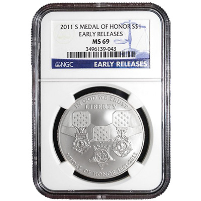 2011-S $1 Silver Medal of Honor NGC MS69 Early Releases