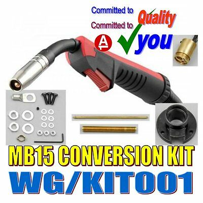 Mig Welding Euro Torch Conversion Kit & MB15 X 4 M Metre Cable Torch WG/KIT001