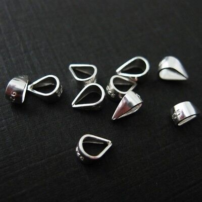 925 Sterling Silver Simple Bail - Closed Bail - 7.2 mm (20 pcs)