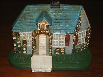 Charming Vintage English Cottage Heavy Cast Iron Door Stop With Original Paint