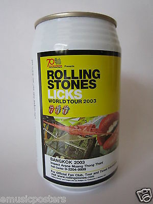 "Rolling Stones ""licks World Tour 2003, Bangkok"" Singha Beer Can From Thailand"