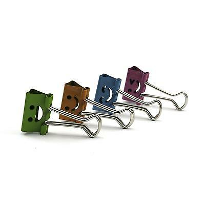 10Pcs Smile Face Office File Paper Card Metal Binder Clips File Holder 3.5*1.9cm