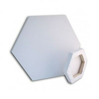 1 HEXAGONAL DEEP EDGE PRIMED LOXLEY BLANK BOX ARTIST CANVAS 26cm WIDE LCCH-6