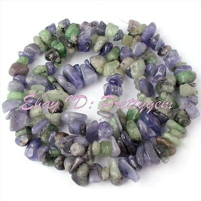 6-8mm Freeform Natural Multicolor Zoisite Chips Gemstone Spacer Beads Strand 16""