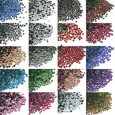 1440pcs SS6 (1.8-2.0mm) Many Colors DMC Iron On Hotfix Crystal Rhinestones
