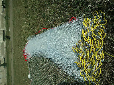 Sandeel/Minnow seine net 50' to120' fishing bait 5/8 inch Mesh optional Cod End