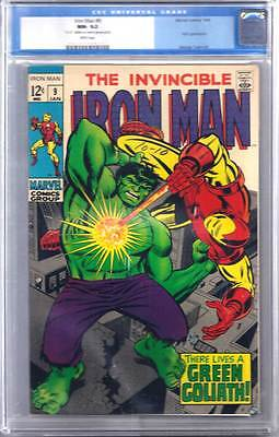 Iron Man # 9  There Lives a Green Goliath ! CGC 9.2 scarce hot book !!