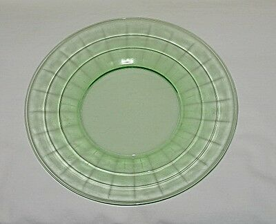 Anchor Hocking/Hocking Glass Block Optic Pattern Green Salad/Luncheon Plate