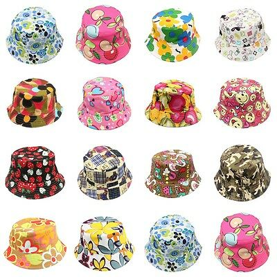 Kids Boys Girls Bucket Hat Boonie Hunting Summer Fishing Outdoor Cap 100% Cotton