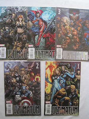 ULTIMATUM : COMPLETE 5 ISSUE SERIES by JEPH LOEB & DAVID FINCH. MARVEL.2009