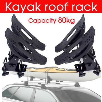 Universal Kayak Carrier w/ Straps 4 Saddle Watercraft Roof Rack Arm Canoe Loader