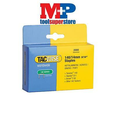 Tacwise 0349 140 Heavy-Duty Staples 14mm (Type T50, G) Pack 2000