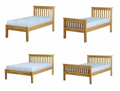 Monaco 3' Single Or 4'6 Double High Or Low End Antique Pine Bed