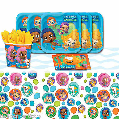 Bubble Guppies Children's Birthday Party Complete Tableware Pack For 16