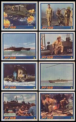 PT 109 original 1963 lobby card set JFK/U.S. NAVY/WW2 11x14 movie posters