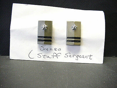 Vintage Sanso Mexican Staff Sergeant Military Rank Shoulder Pin