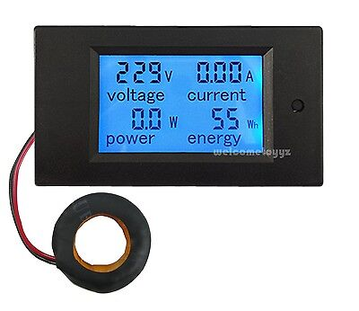 AC80~260V100A 4 in 1 LCD Digital Combo Panel Meter Volt Amp Power Watt Hour + CT