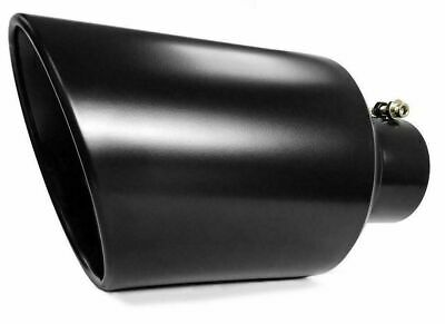 "Black Bolt On Diesel Exhaust Tip 4"" inlet 8"" Outlet 15"" Long"
