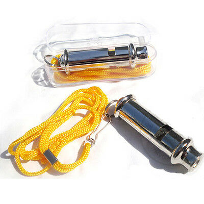 1/2/4 Metal Referee's' Whistle Keyring School Football Rugby Party Dog Training