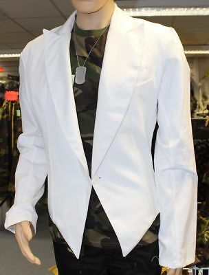 Genuine Czech Army Mess Dress Catering Chef Jacket In White