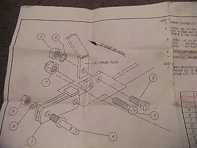 Long Agribusiness Tractor  Extension Hitch Kit  Plans / Drawings