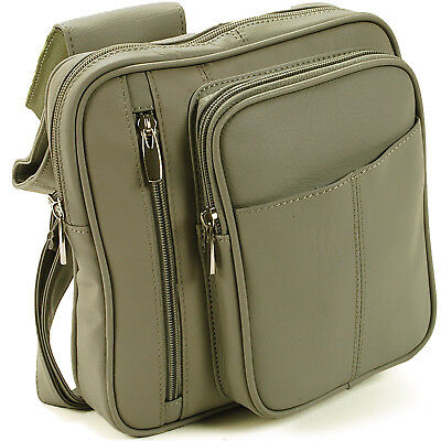 Leather Cross Body Bag Organizer Clutch Travel Purse Messenger Backpack Style