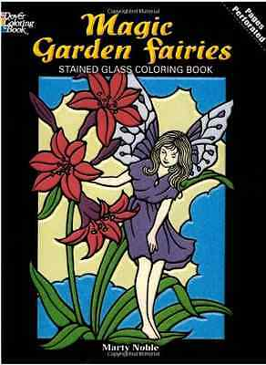 Fairies and Elves Stained Glass Colouring Book (Stained - Noble, Marty NEW Paper