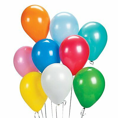 Assorted Multi-Color Latex Balloons Birthday Party Event Clown Decor  11'' Inch