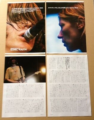 2000 Sonic Youth 6pg 3 photo JAPAN magazine article /press clipping cutting s10r