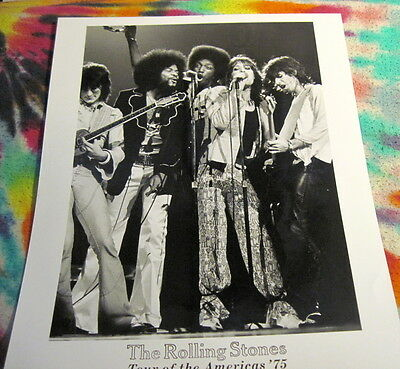 Rolling Stones - Tour Of The America's 1975 -  8 X 10 Photo ----  K @@ L