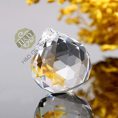 Chandelier Crystal Glass Clear Hanging Ball Prisms Suncatcher Feng Shui Pendants