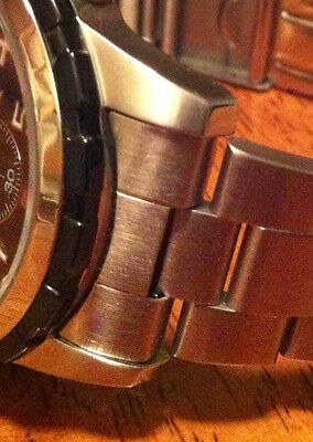 New 22mm SOLID CURVED END STAINLESS STEEL BAND OYSTER LOOK FITS MOST WATCH'S Men