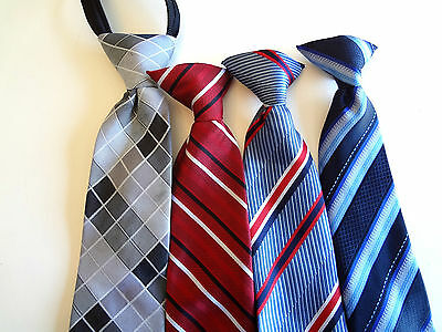 Boy's Pre-Tied -   Neck Ties (4) Ties For Ages 2 - 4 Years