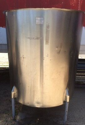 500 Gallon Stainless Steel Vertical Open Top Mix Tank