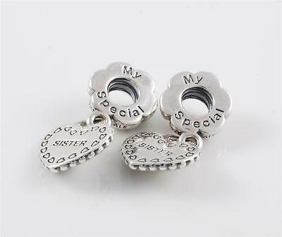 Authentic Genuine Pandora Sterling Silver My Special Sister Charm Bead 791383