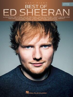 ED SHEERAN - The Best Of for Easy Piano Updated Edition Book *NEW* Sheet Music