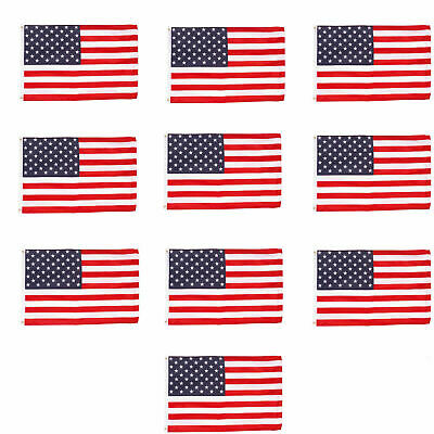 Wholesale lot 12 3' x 5' ft. USA US American Flag Stars Grommets United States