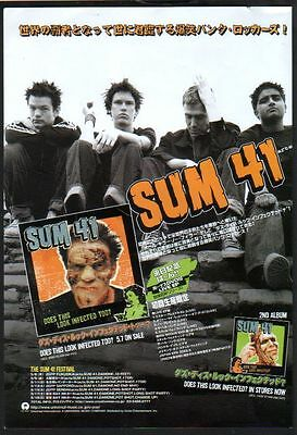 2003 Sum 41 Does This Look Infected Too? JAPAN album promo photo ad / advert 06r