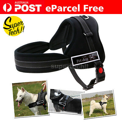 Control Large Dog Pulling Harness Adjustable Support Comfy Pet Pitbull Training