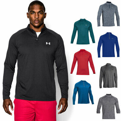 Under Armour 2017 Mens UA Tech 1/4 Zip Long Sleeve Top Gym Shirt Workout Layer