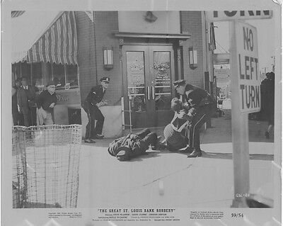 THE GREAT ST. LOUIS BANK ROBBERY original 1958 movie lobby photo SOUTHWEST BANK