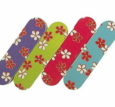 Mini Emery Boards Nail Manicure Pedicure File Floral Flower Hawaiian Print LOT