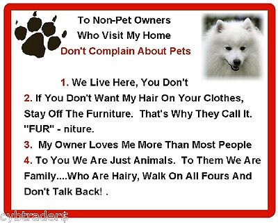 Funny Dog Japanese Spitz House Rules Refrigerator / Magnet Gift Card Idea