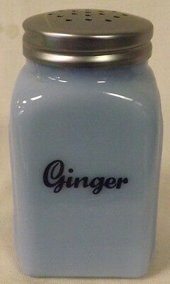 Delphite Milk Blue Glass Arched Spice Shaker - Ginger